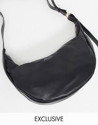 Glamorous sling tote bag in black