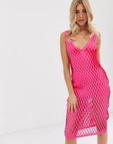 Asos Design DESIGN laser cut scuba column midi dress