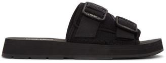 Kenzo Black Papaya Mule Sandals