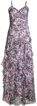 Parker Black Barcelo Floral Ruffle Gown