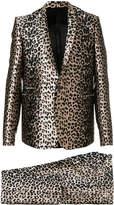 Les Hommes leopard print two piece suit