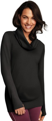 Maidenform Women's Sport Base Layer Seamless Cowl Neck Top