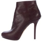Christian Dior Snakeskin Round-Toe Ankle Boots