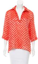 Piazza Sempione Patterned Pointed Collar Top