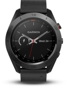 Garmin Unisex Approach S60 Black Silicone Strap Touchscreen Smart Watch 46mm