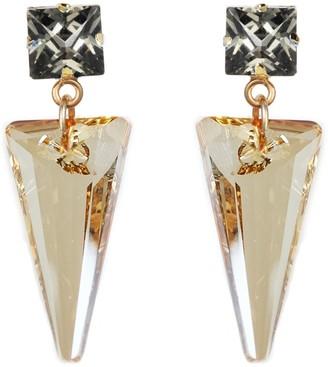 Nadia Minkoff Crystal Shard Earring Golden Shadow & Black Diamond