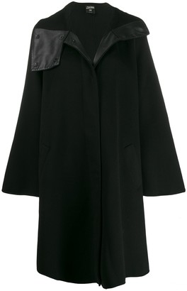 1990's asymmetric collar A-line coat