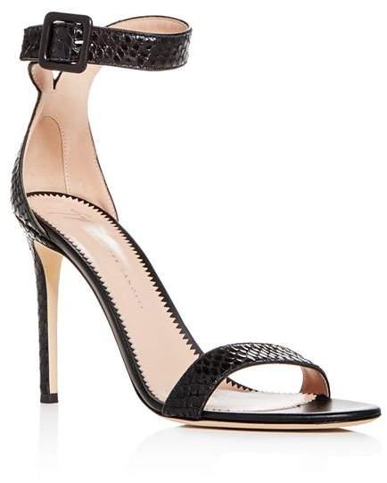 b514bbb29c Giuseppe Zanotti Black Heel Strap Women's Sandals - ShopStyle