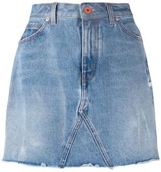 Heron Preston Fitted Frayed Edge Skirt