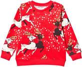 Mini Rodini Red Reindeer Sweatshirt