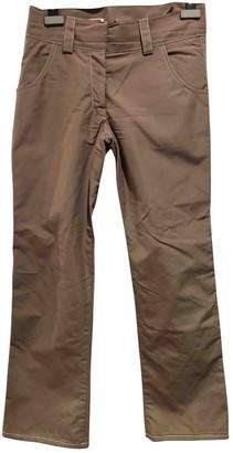 Jil Sander Gold Wool Trousers for Women