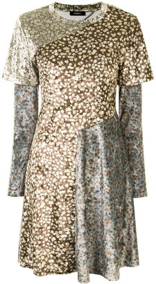 GOEN.J Floral-Print Panelled Dress