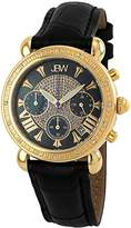 "JBW Women's JB-6210L-F ""Victory"" Combo Black Leather Diamond Watch"
