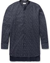 Dries Van Noten - Grandad-collar Double-cuff Floral-print Cotton Shirt
