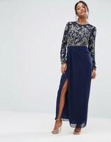 Virgos Lounge Embellished Long Sleeve Maxi Dress