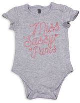 "Freeze Miss Sassy Pants"" Short Sleeve Bodysuit in Grey"