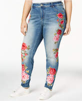 INC International Concepts Embroidered Skinny Jeans, Created for Macy's