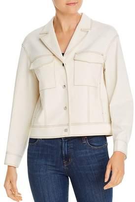 Lafayette 148 New York Theodosia Cropped Denim Jacket