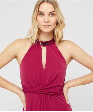 Monsoon Izzie Embellished Jersey Maxi Dress - Pink
