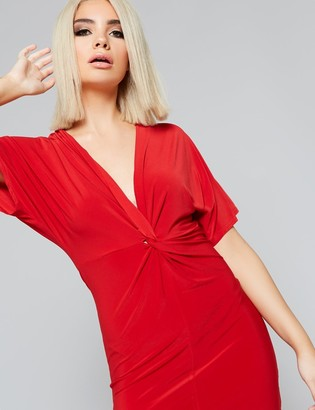 Public Desire Uk Slinky Twist Front Mini Dress