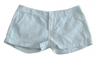 Non Signã© / Unsigned White Cotton Shorts