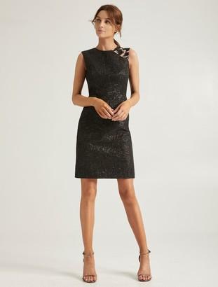 Halston Embellish Jacquard Dress