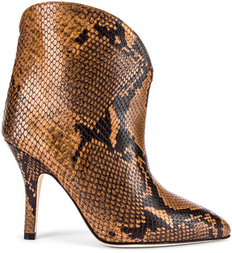 Paris Texas Python Print Ankle Boot in Camel | FWRD