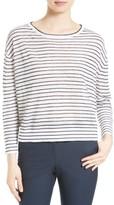 Theory Women's Trinella Stripe Linen Blend Top
