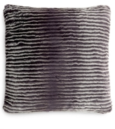 Charter Club CLOSEOUT! Eyelash Stripe Faux-Fur Decorative Pillow