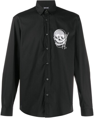 Just Cavalli Skull Print Shirt