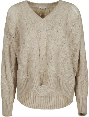 Stella McCartney V-neck Woven Sweater