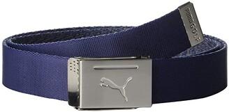Puma Reversible Web Belt (Peacoat) Men's Belts