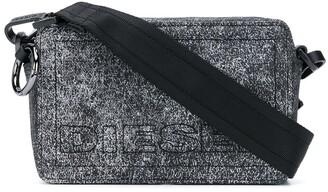 Diesel Grain Print Shoulder Bag
