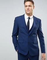 Burton Menswear Slim Suit Jacket In Navy