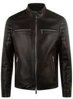 BOSS Leather Biker Jacket