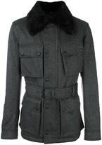 Belstaff collar detail military jacket