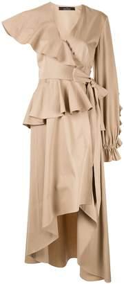 Rokh asymmetric trench-dress