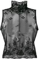 Ann Demeulemeester Genevieve sheer high neck top