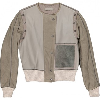 Bottega Veneta \N Grey Leather Jackets
