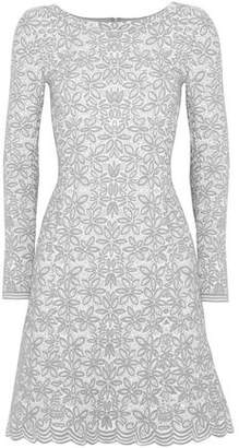 Alaia Wool-blend Jacquard Mini Dress