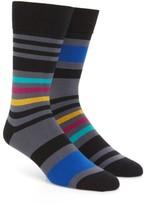 Paul Smith Men's Odd Block Stripe Socks