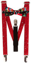 Lord & Taylor Boys 2-7 Snowflake Suspenders and Peanuts Bow Tie Set