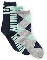 Class Club 3-Pack Argyle Crew Dress Socks