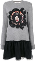 RED Valentino lace and tulle sweatshirt dress