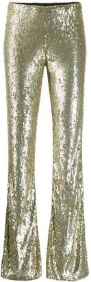 P.A.R.O.S.H. Gummy straight leg trousers