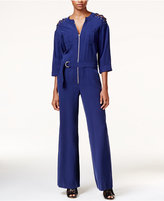 GUESS Mathilde Lace-Up Utility Jumpsuit