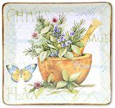 Certified International Herb Garden 12.5-in. Square Serving Platter