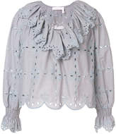 See by Chloe ruffled scalloped blouse