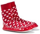 Moccis Red Star Print Moccasin Socks