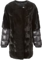Liska padded sleeve fur coat